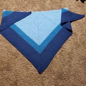 Homemade blue shawl